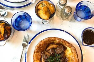 Yorkshire pudding, beef brisket, horseradish & roa